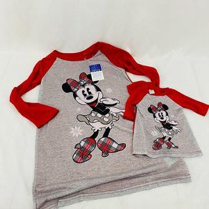 Disney's Minnie Mouse Plaid Nightgown & Matching D